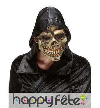 Masque tête de mort facial avec capuche