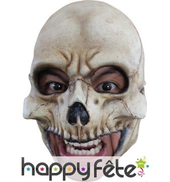 Masque tête de squelette avec ouverture de bouche