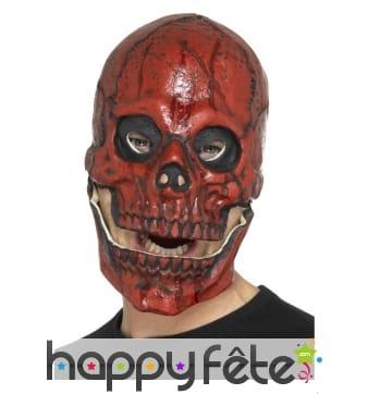 Masque tête de squelette rouge en sang