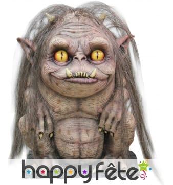 Monstre troll décoratif aux longs cheveux 30cm