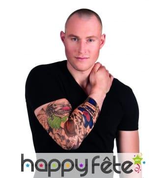 Manches tatouages motif clown