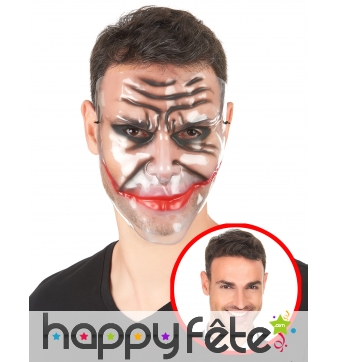 Masque transparent sourire du joker