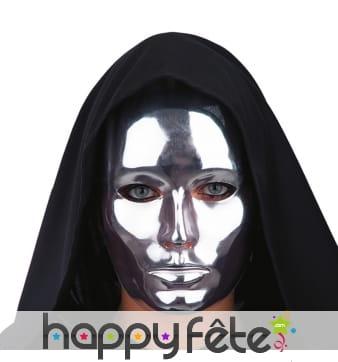 Masque uni argenté, facial