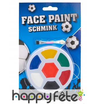 Maquillage visage 7 couleurs en forme de ballon