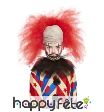 Maquillage visage de clown effrayant pour enfant