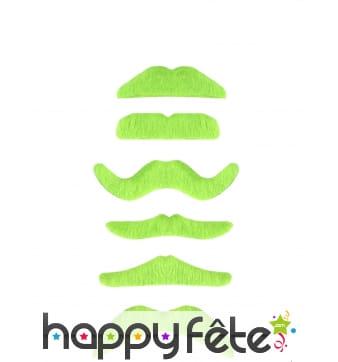 Moustache verte fluo de forme aléatoire