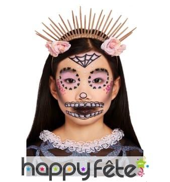 Maquillage visage Le jour des morts pour enfant