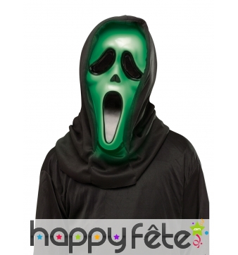 Masque vert lumineux de Scream pour adulte