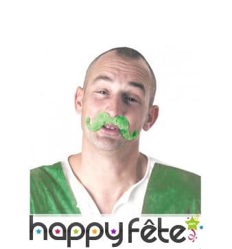 Moustache verte unie Saint Patrick, pour homme