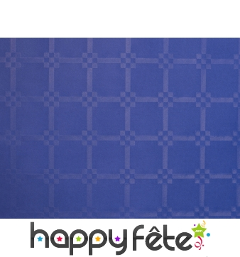 nappe bleu marine vif damass e x 50m. Black Bedroom Furniture Sets. Home Design Ideas