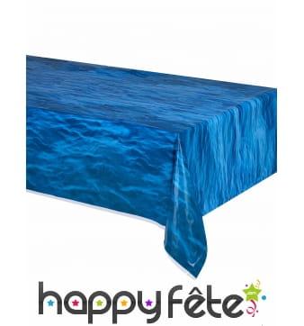 Nappe bleue motif océan de 137 x 274cm