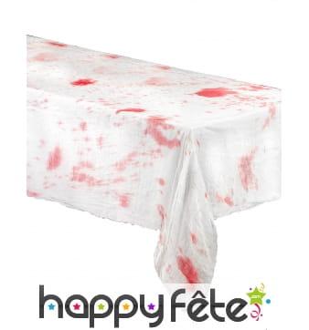 Nappe blanche tâchée de sang 200 x 150cm