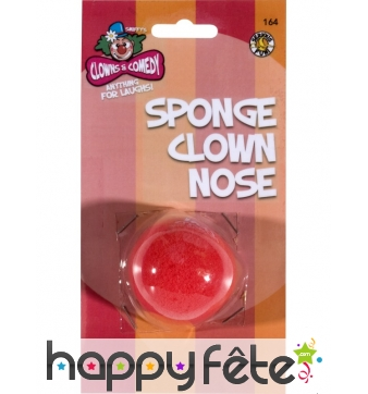 Nez clown rouge en mousse