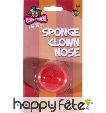 Nez clown rouge en mousse