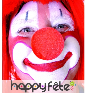 Nez de clown en mousse rouge