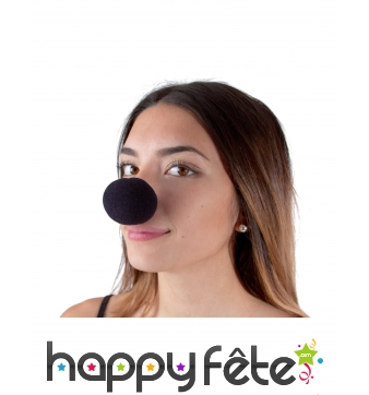 Nez de clown noir en mousse