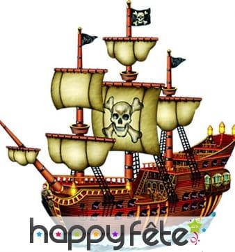 Navire de pirate en carton