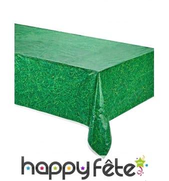Nappe imprimée herbe verte de 137 x 274cm