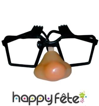 Nez +lunettes