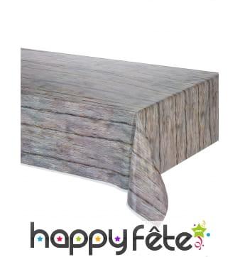 Nappe motif bois rustique de 137 x 274cm