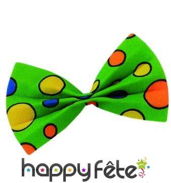Noeud papillon vert de clown