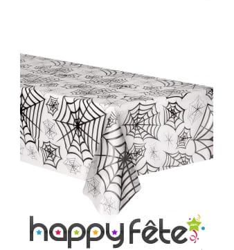 Nappe transparent motifs toiles d araignées