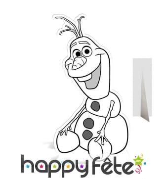 Olaf géant à colorier, en carton plat