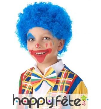 Perruque afro bleue pour enfant