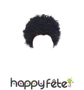 Perruque afro bouclée noire pour adulte