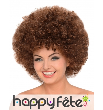 Perruque afro chatain volumineuse
