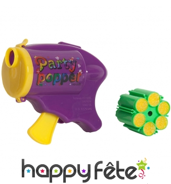 Pistolet a confettis avec cylindre de recharge
