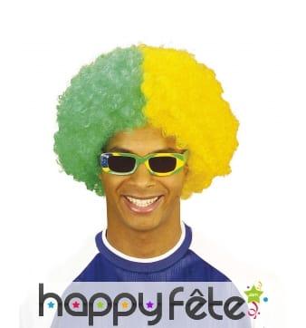 Perruque afro de supporter Brésilien