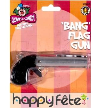 Pistolet avec drapeau bang