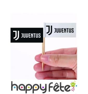 Pics apéritifs Juventus de 6,5 cm, par 24