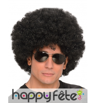 Perruque afro noire coupe volumineuse