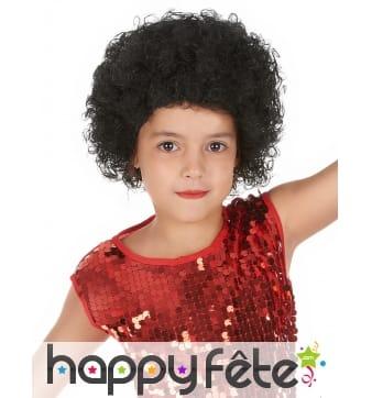 Perruque afro noire pour enfant