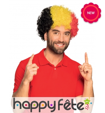 Perruque afro pour supporter belge