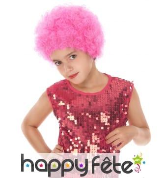 Perruque afro rose pour enfant