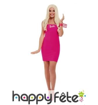 Perruque Barbie avec collier et bracelet, femme