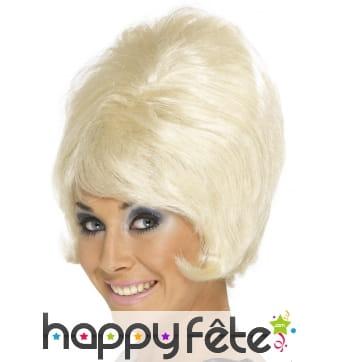 Perruque beehive blonde