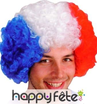 Perruque bleu blan rouge, drapeau Francais