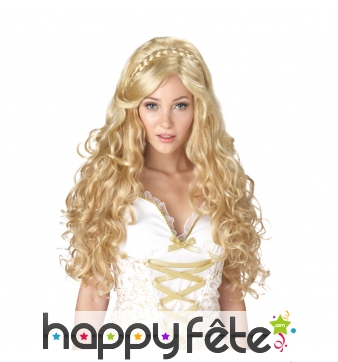 Perruque blonde bouclée de déesse