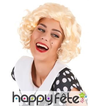 Perruque blonde courte Marylin Monroe
