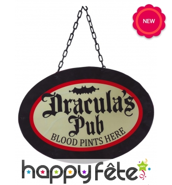Pancarte bar de vampire, 47cm