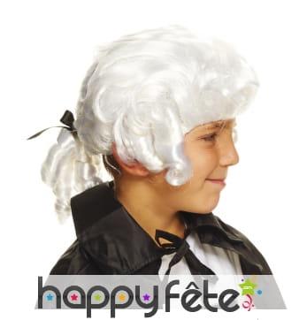 Perruque blanche de donjuan pour enfant