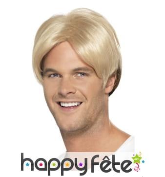 Perruque blonde de footbaleur, année 90