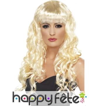Perruque blonde de sirène