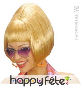 Perruque blonde des annees 60