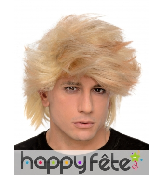 Perruque blonde ébouriffée pour homme adulte