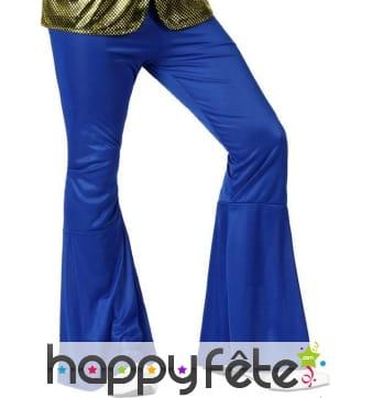 Pantalon bleu foncé patte d'éléphant pour homme